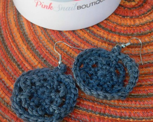 Mini Mandala Free Crochet Earring Pattern