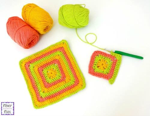 Free Crochet Pattern Tropical Punch Dishcloth