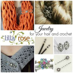 Lilla Rose Jewelry for your hair and crochet