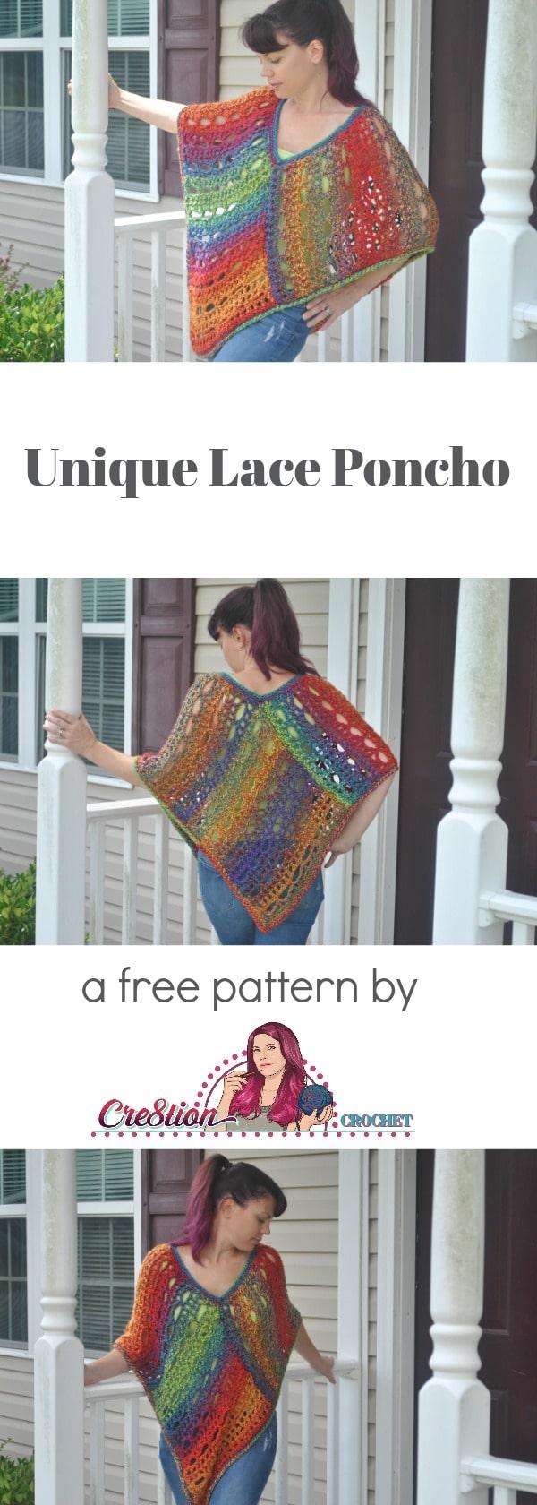 Unique Lace Poncho - Cre8tion Crochet