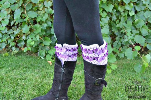 Twisted Treasures Boot Cuffs by Cre8tive Threads by Leah free pattern