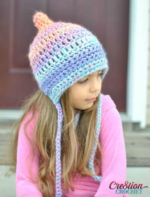 Unique Pixie Bonnet Style Crochet Hat Cre8tion Crochet