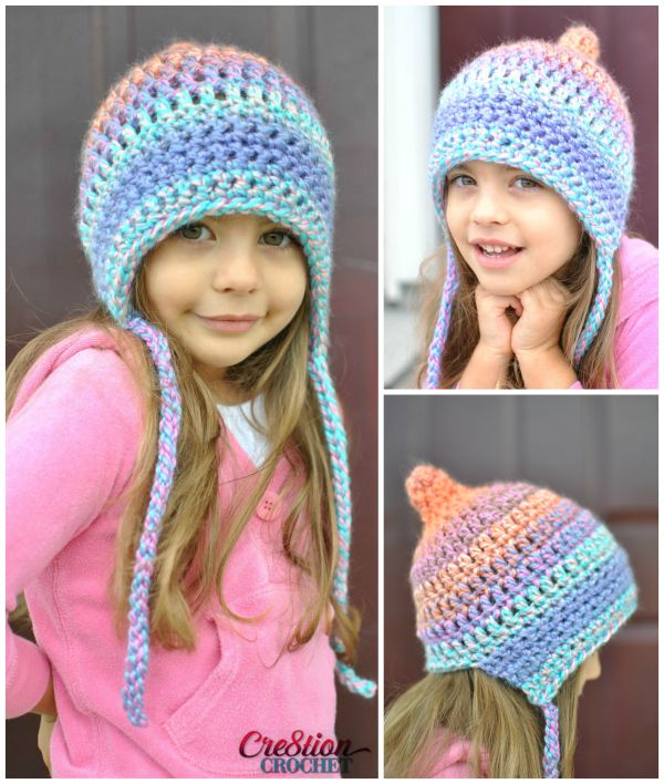 Unique Pixie Bonnet Style Crochet Hat - Cre8tion Crochet