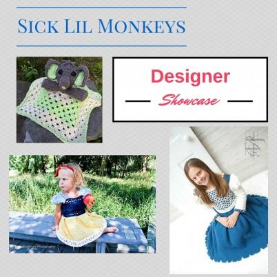 Cre8tion Crochet designer showcase featuring Sick Lil Monkeys