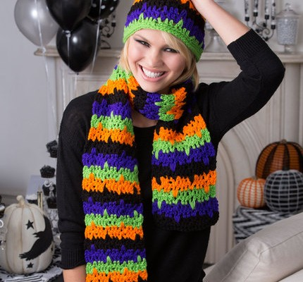 Halloween Hat and Scarf