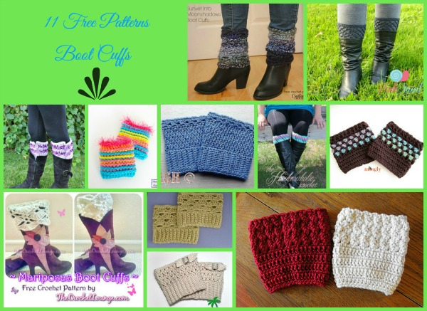 8 Beautiful Boot Cuff Crochet Patterns Free Crochet Inducedfo