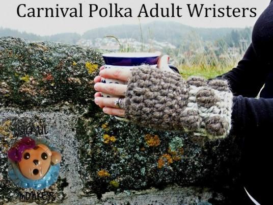 Free Crochet Pattern Carnival Polka Wristers