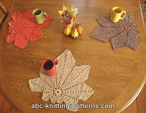 Chestnut Leaf Table Runner and Placemat