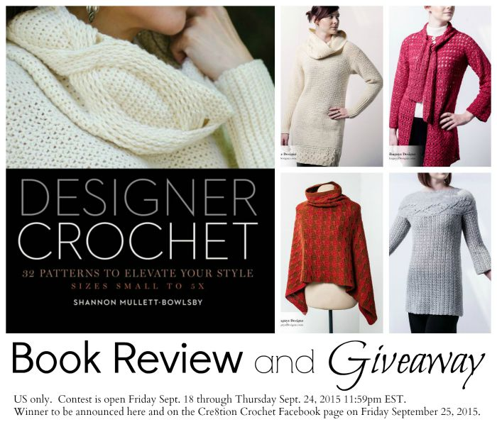 Designer Crochet Book Review and Giveaway.