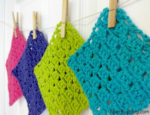 Free Crochet pattern Sparkling Clean Dishcloth