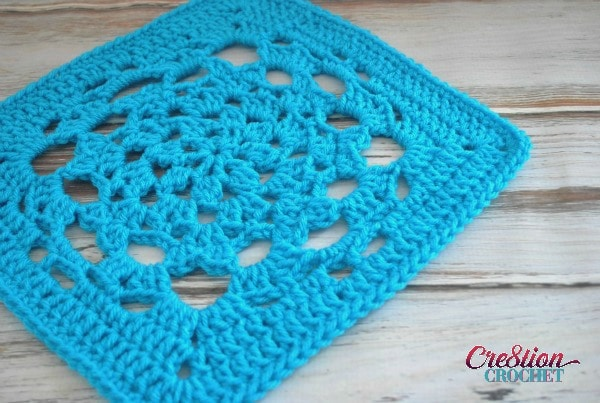 Latent Heart 12 inch crochet square solid color