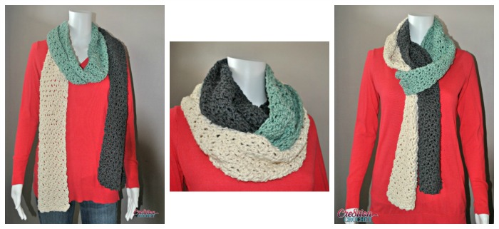 Stormy Skies Scarf a free crochet pattern