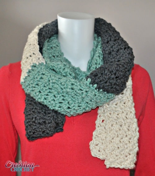Crochet Patterns Visual : Free Crochet Scarf Pattern Stormy Skies - Cre8tion Crochet
