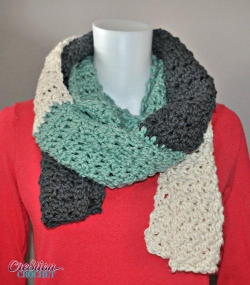 Crochet Patterns Visual : Free Crochet Scarf Pattern Stormy Skies - Cre8tion Crochet