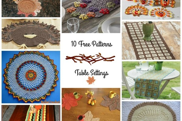 Fall Table Settings Crochet Pattern Round Up