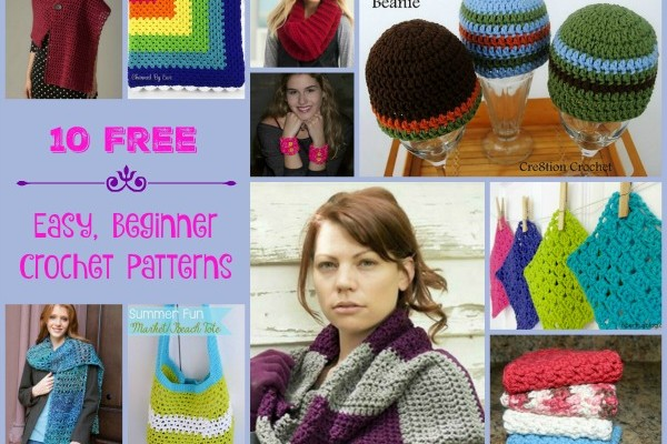 10 Free Beginner Crochet Patterns