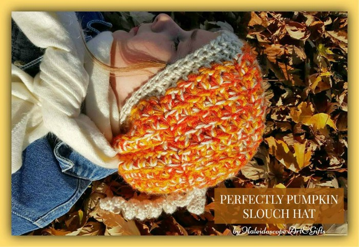 perfectly pumpkin slouch hat free crochet pattern