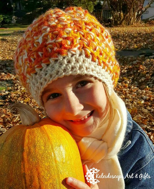 perfectly pumpkin slouch hat, would look great in any colors, free pattern