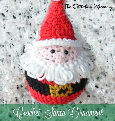 Crochet Santa Christmas Ornament