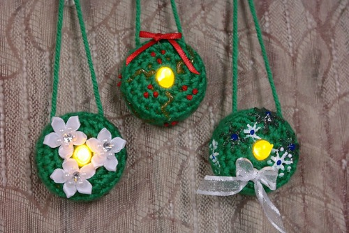 Lighted Wreath Ornament