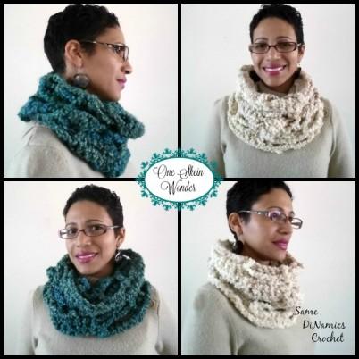 One Skein Cowl Free Crochet Pattern