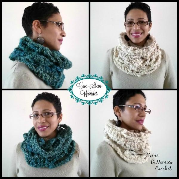 One Skein Cowl Free Crochet Pattern - Cre8tion Crochet