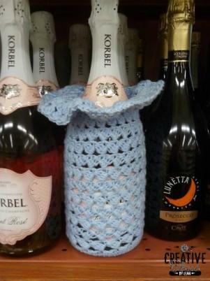 Swirling Leaves Wine Cozy/Gift Bag Free Crochet Pattern