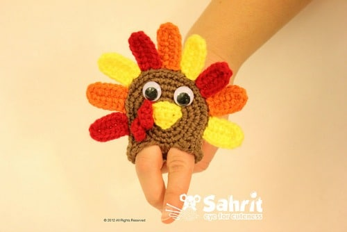 Turkey Applique Finger Puppet