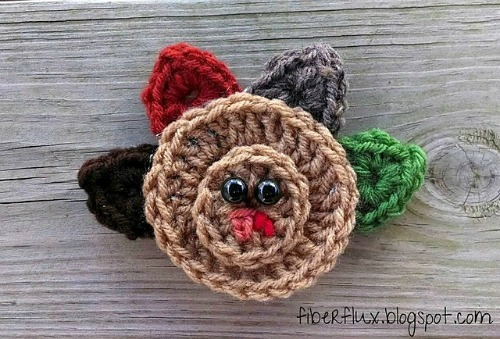 Turkey Applique by Fiber Flux