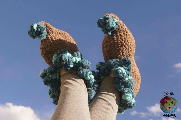 Carnival Polka Free Crochet Slipper Pattern