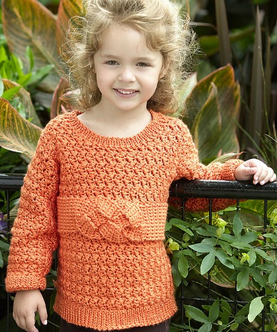 Childs Friendship Knot Sweater