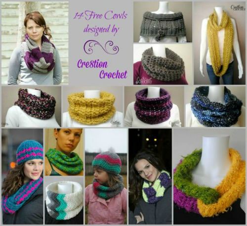 Cre8tion Crochet Cowls Round Up
