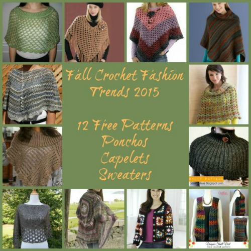 FFT Poncho, Capelets and Sweaters Collage