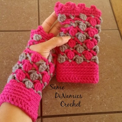 Floating Petals Fingerless Gloves Free Pattern