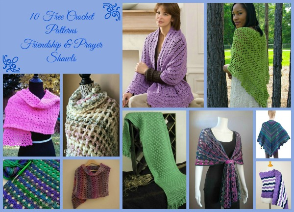 Prayer and Friendship Shawls Collage