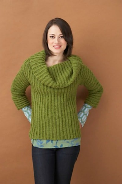 Side to Side Cowl Neck Sweater