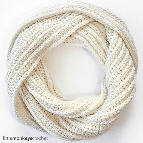 Super Plush Faux Knit Infinity Scarf