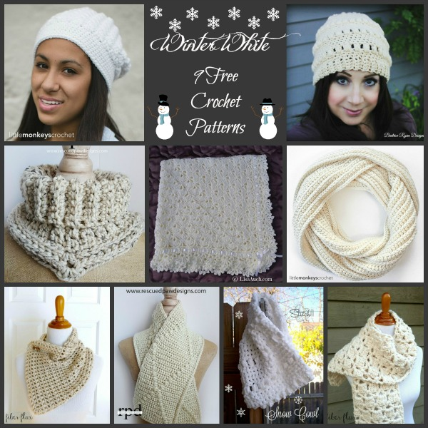 Winter White Collage