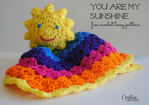 You Are My Sunshine Crochet Lovey