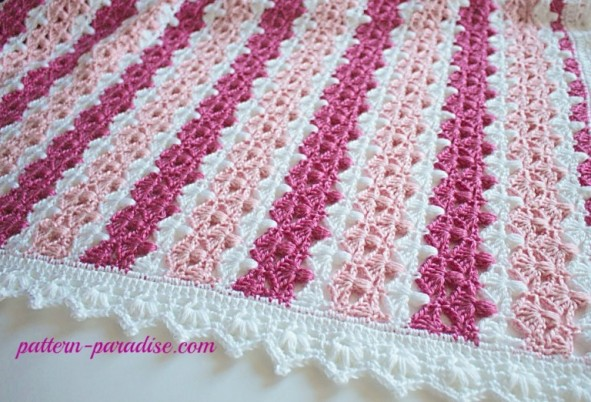 jasmine baby blanket by pattern paradise