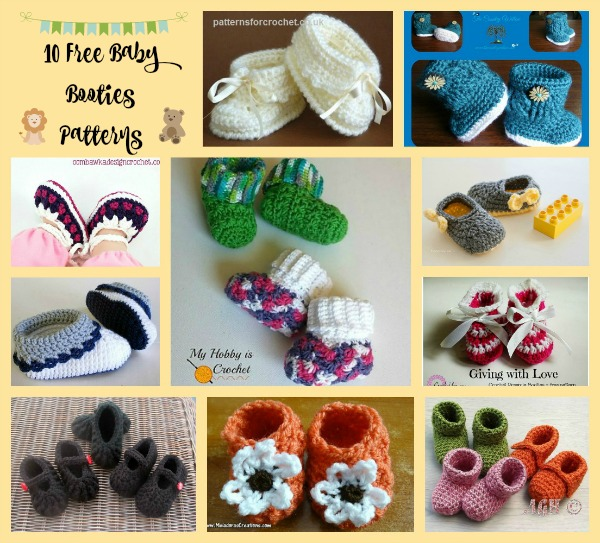 Baby Booties Collage