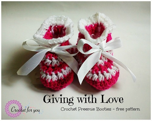 Crochet Preemie Booties
