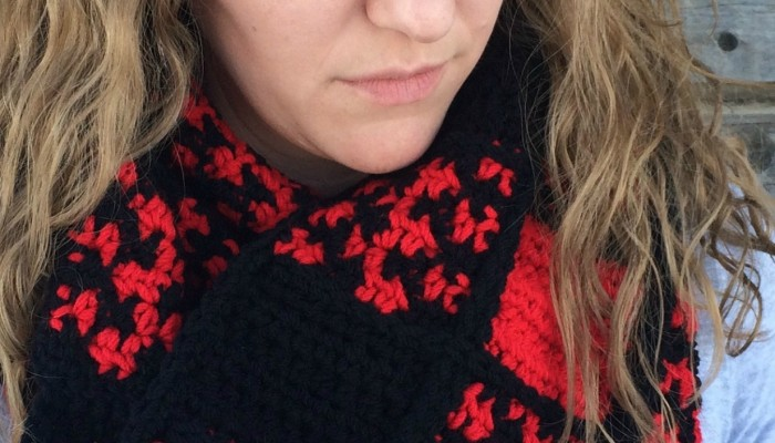 Buffalo Check Obsession Scarf free crochet pattern