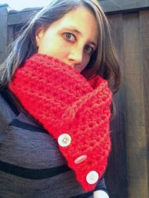 """""""Kelli"""" Free Crochet Cowl Pattern"""