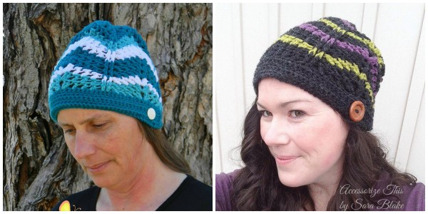 subtle chevrons beanie and slouch free crochet pattern