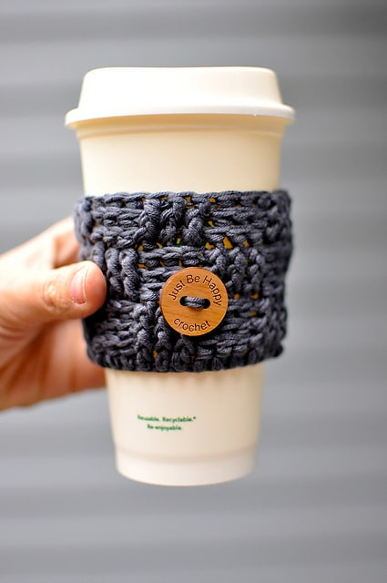 basket weave cup cozy by just be happy crochet
