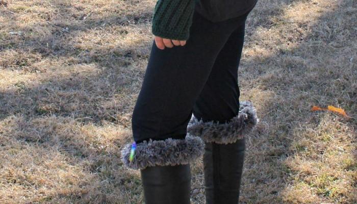 Fingerless Gloves & Boot Cuff free crochet pattern
