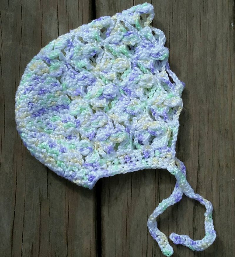 infant bonnet free crochet pattern