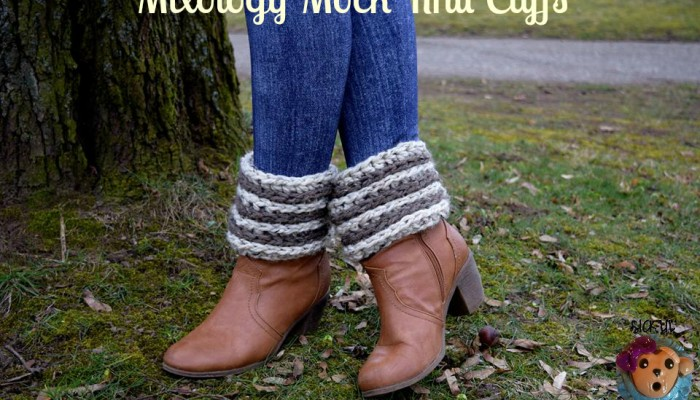 Mixology Mock Knit Boot Cuff free crochet pattern