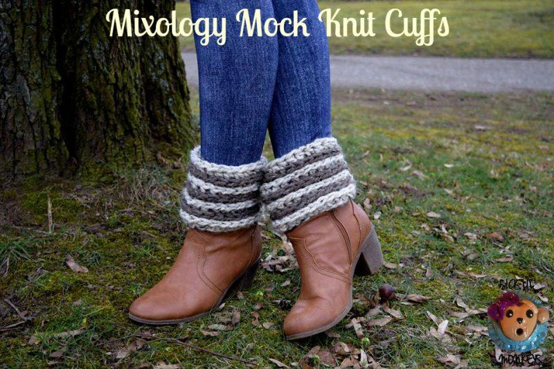 Mixology Mock Knit Boot Cuff Free Crochet Pattern Cre8tion Crochet